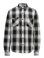 Labour Shirt Heavy flanel brushed - OFF WHITE GARMENT WASHED