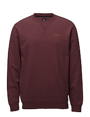 Base Crew Sweat - OXBLOOD RED