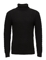 United Rollneck Sweater - BLACK