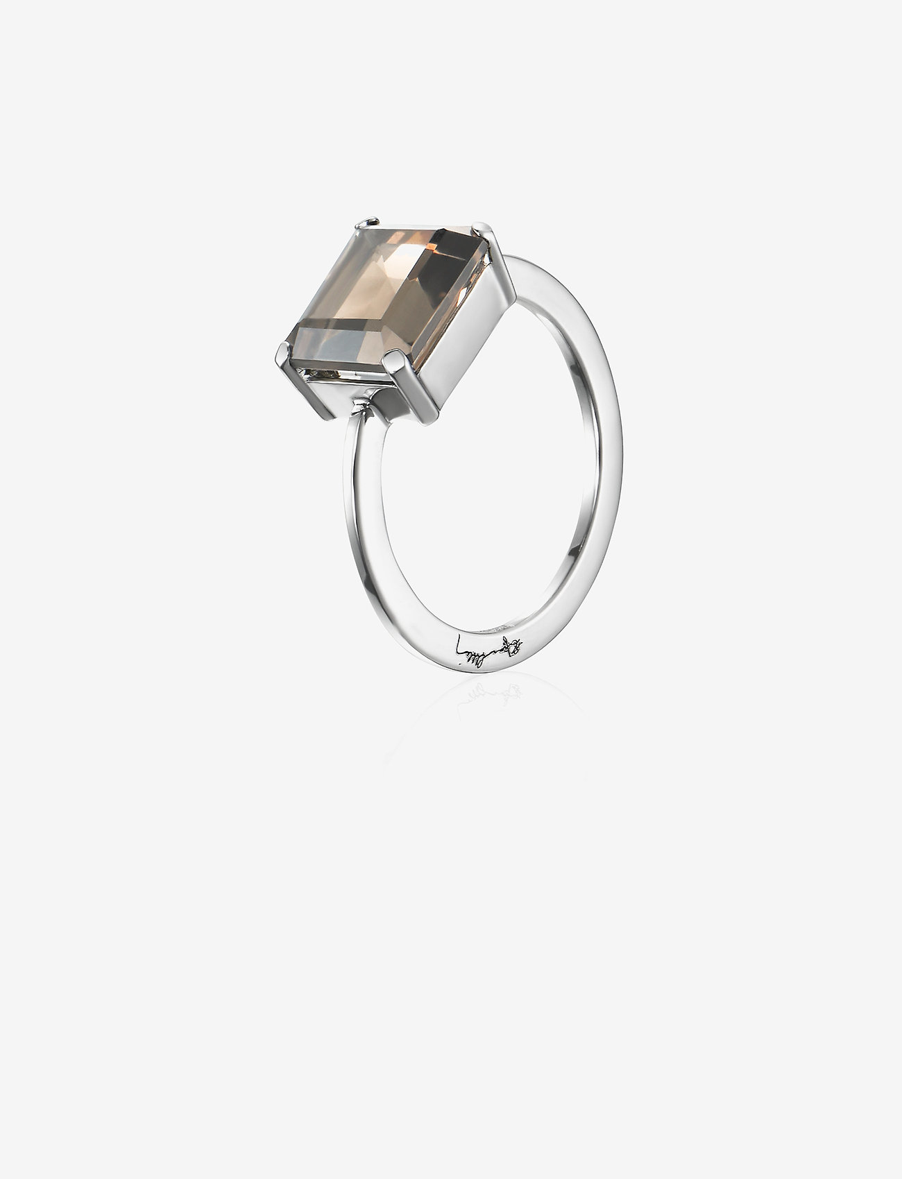 Efva Attling - A Chocolate Dream Ring - bagues - silver