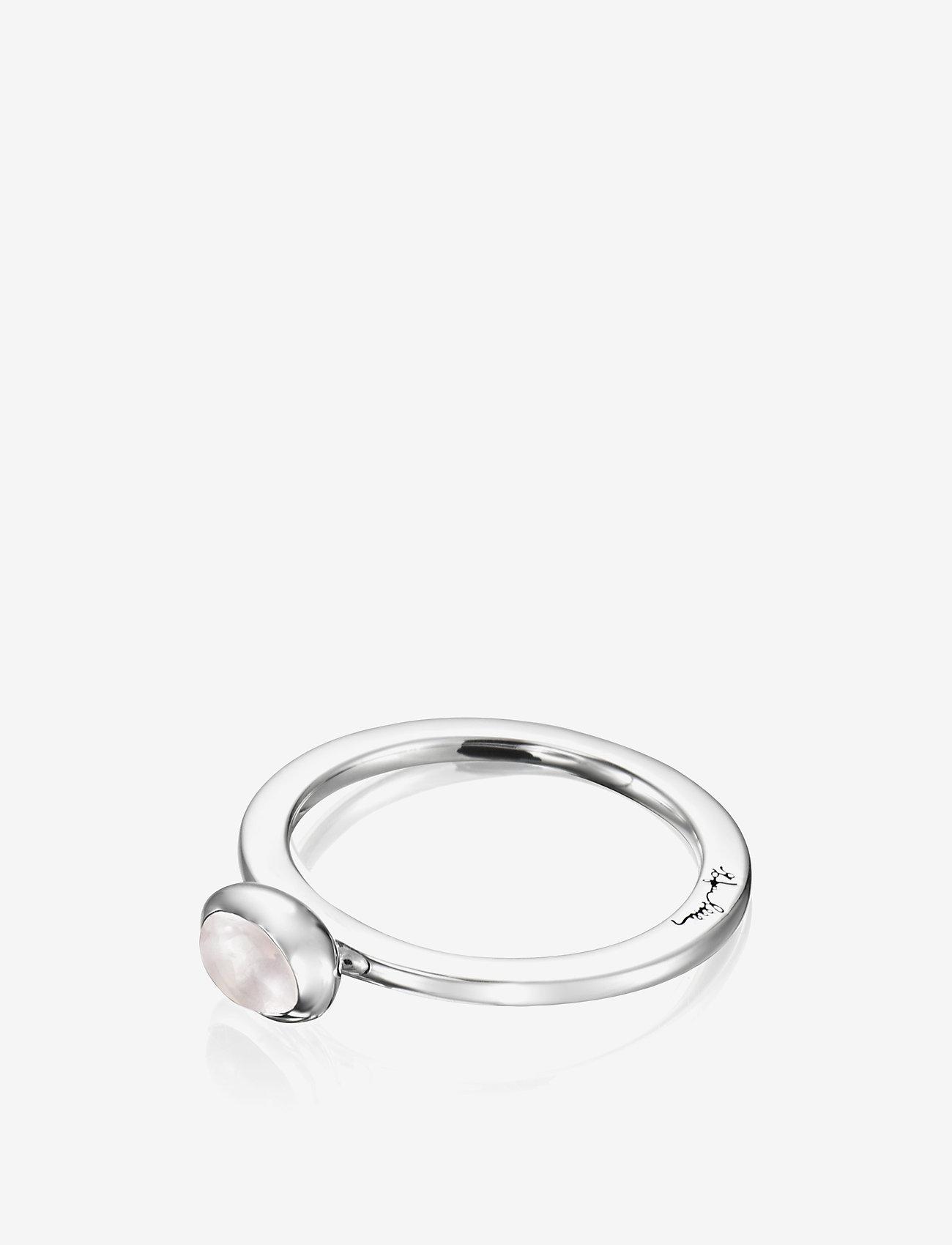 Efva Attling Love Bead Ring Silver - Rose Quartz - Biżuteria SILVER - Akcesoria