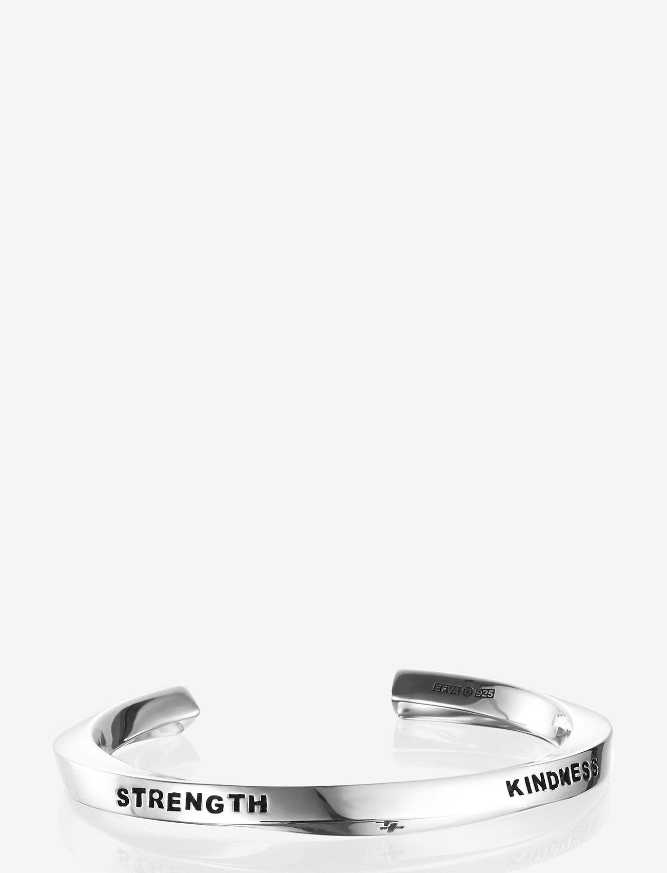 Efva Attling - Strength & Kindness Cuff - bangles - silver - 1