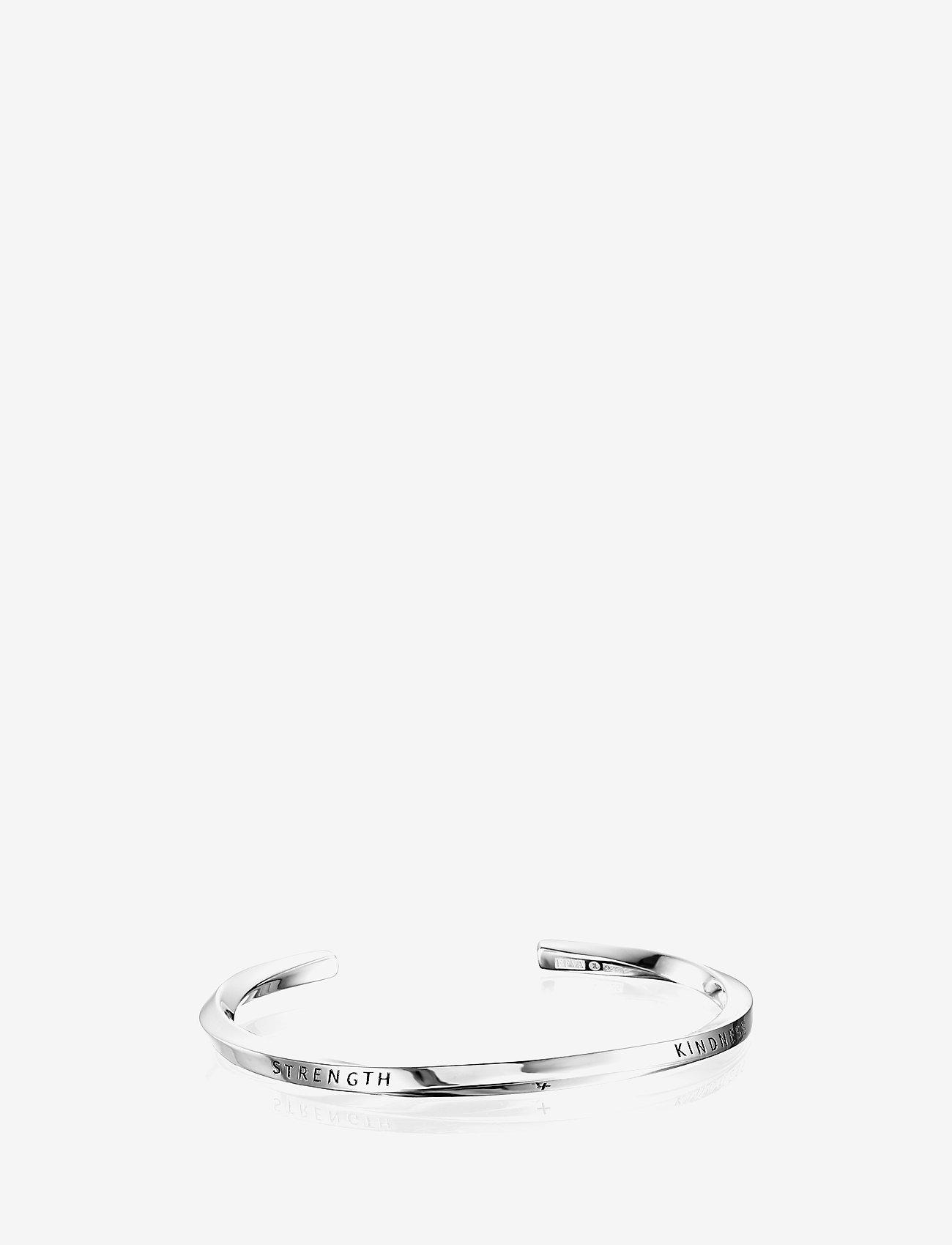 Efva Attling - Strength & Kindness Slim Cuff - bangles - silver - 0