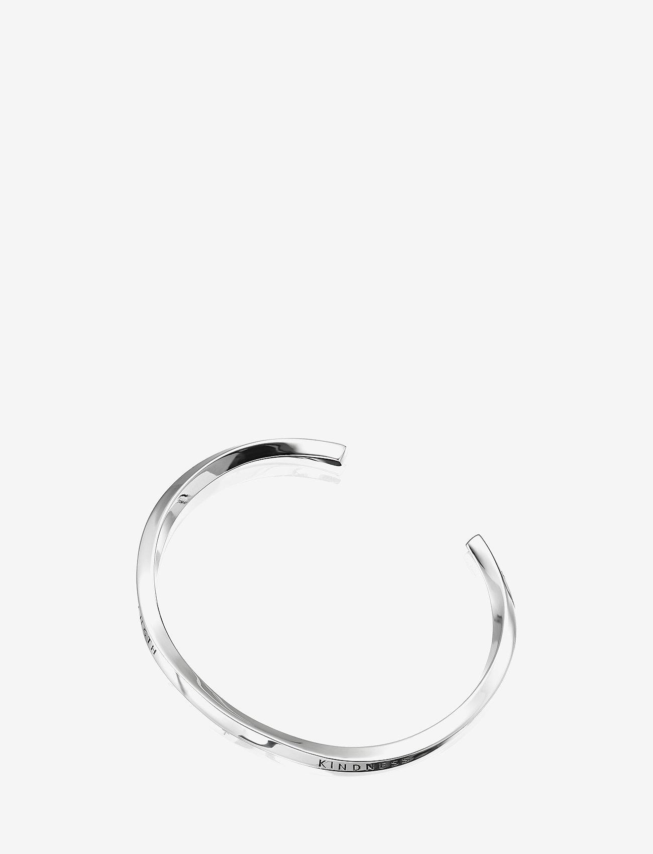 Efva Attling - Strength & Kindness Slim Cuff - bangles - silver - 1