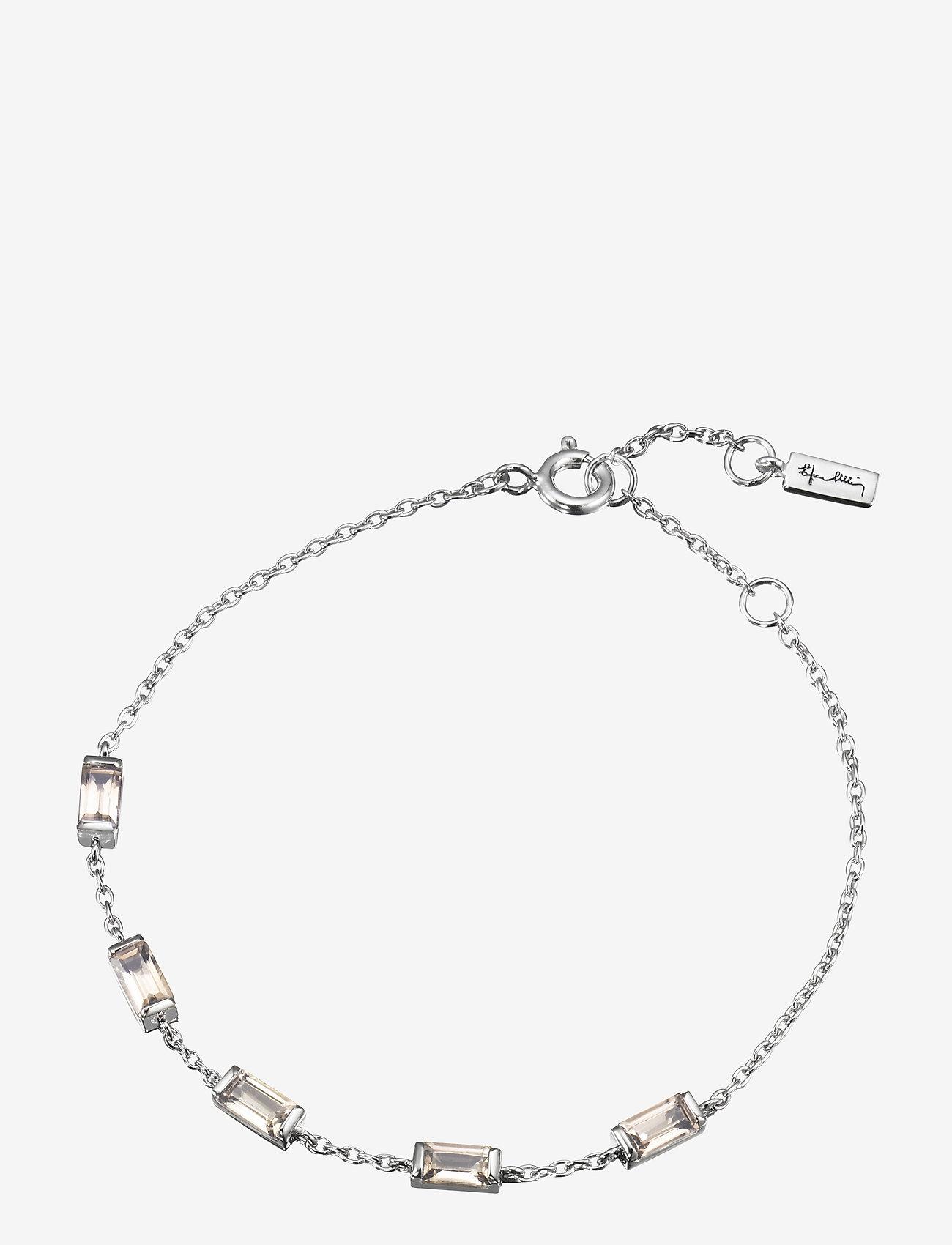 Efva Attling - Chocolate dream bracelet - dainty - silver - 0
