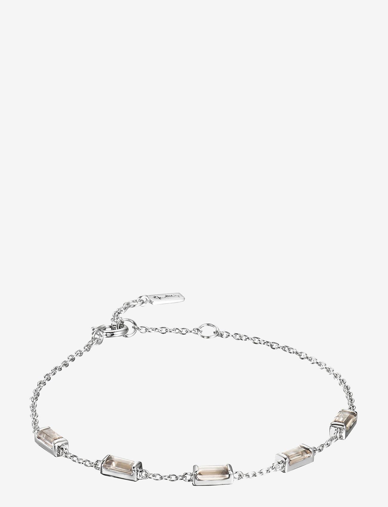 Efva Attling - Chocolate dream bracelet - dainty - silver - 1
