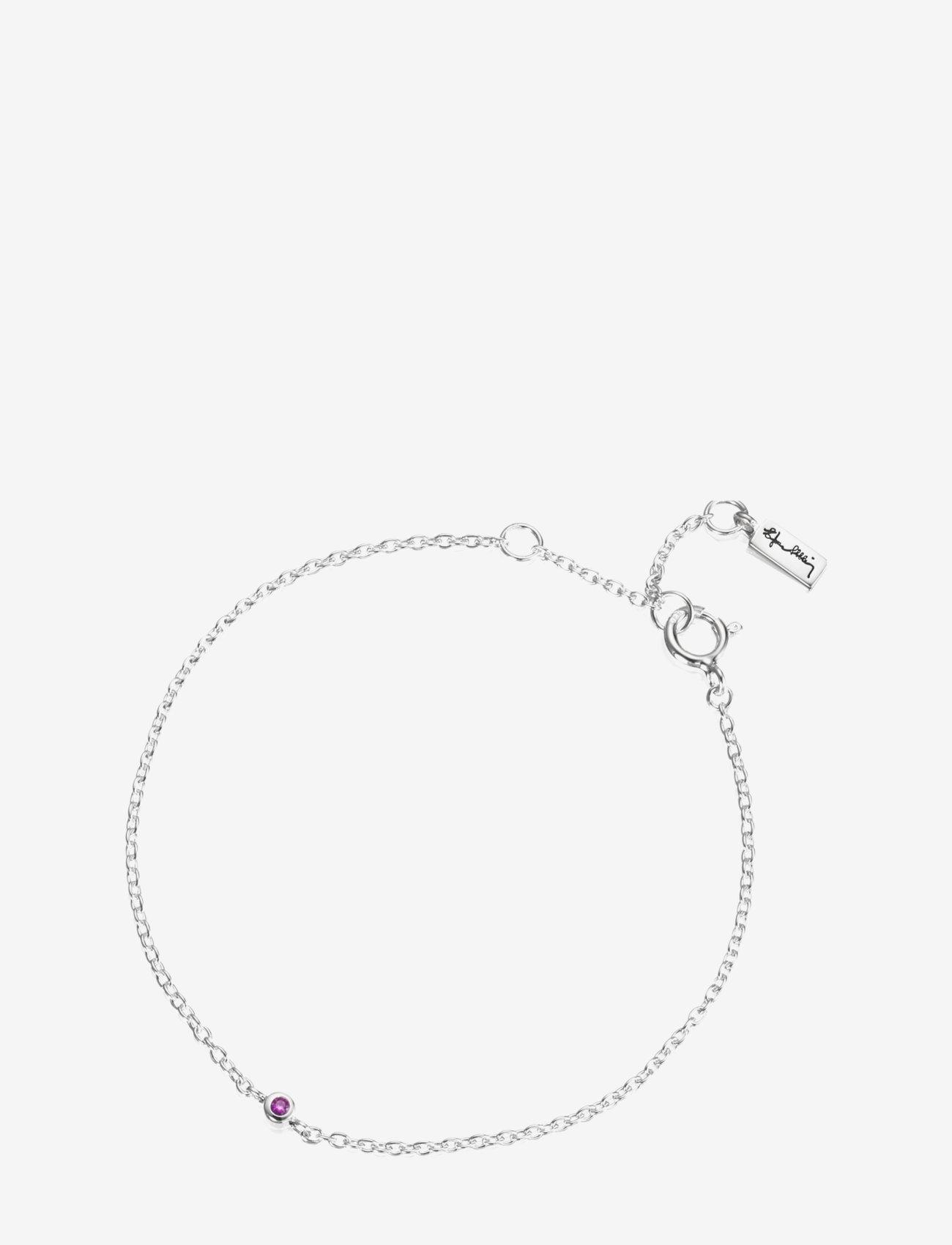 Efva Attling - Micro Blink Bracelet - Pink Sapphire - dainty - silver - 1
