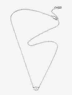 Love Bead Necklace Silver - Rose Quartz - dainty necklaces - silver