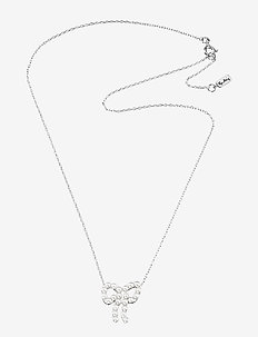 Mini Pearls Bow Necklace - halsband med hänge - silver