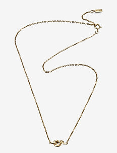 Love Knot Necklace - dainty necklaces - gold