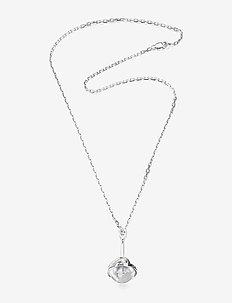 Amor Fati Globe Pendant - Crystal Quartz and chain - SILVER