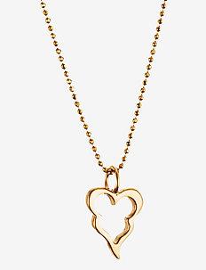 Little Crazy Heart Pendant - pendants - gold