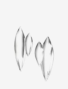 Navette Earrings - statement-øredobber - silver