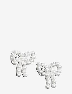 Mini Pearls Bow Ear - Ørestikker - silver