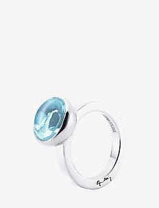 Love Bead Grande Ring - Topaz - rings - silver
