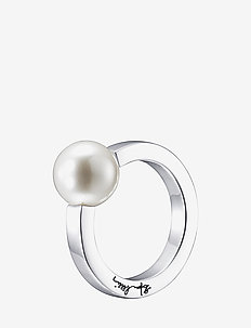 60's Pearl Ring - ringe - silver