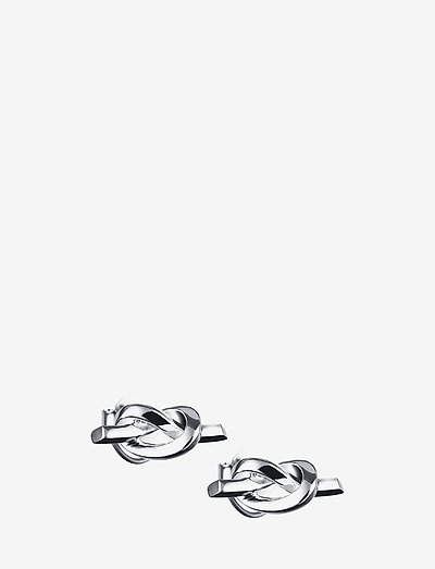 Love Knot Ear - stud earrings - silver