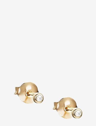 My First Diamond Studs - stud oorbellen - gold