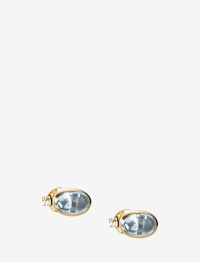 Love Bead Ear - Topaz - stud earrings - gold