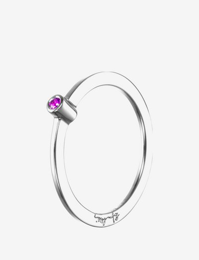 Micro Blink Ring - Pink Sapphire - ringen - silver