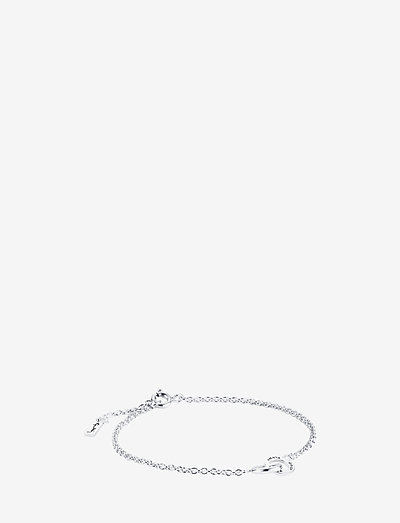 Mini Twosome Bracelet - dainty - silver