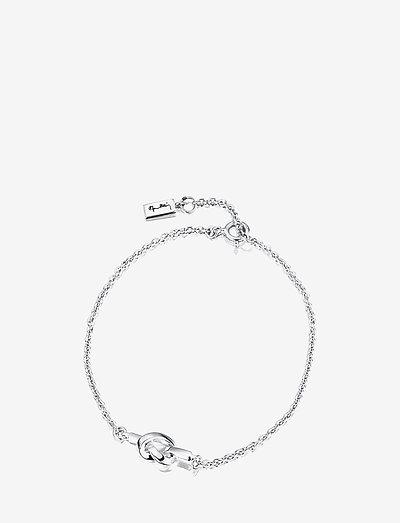 Love Knot Bracelet - dainty - silver