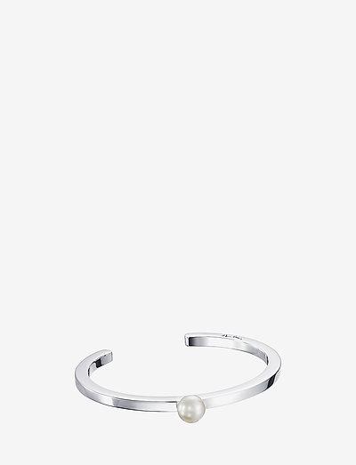 60's Pearl Cuff - bangles - silver