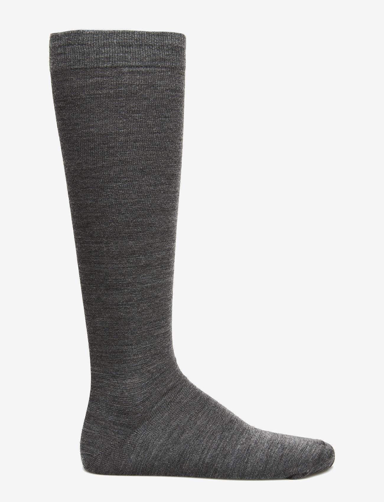 Egtved - Egtved socks twin kneehigh , - regular socks - grey mel.