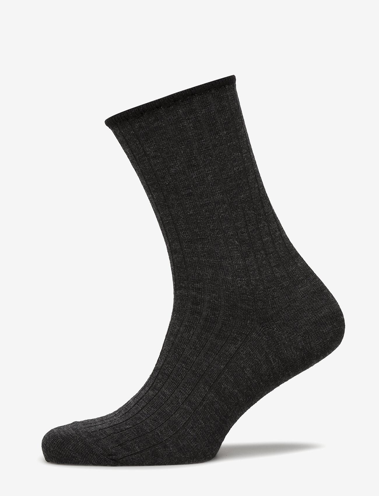 Egtved - Egtved, no elastic, rib, wool, - enkelsokken - dark grey - 0