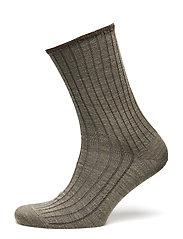 Egtved socks wool no elastic , - BEIGE MEL.