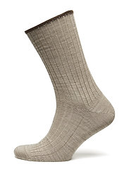 Egtved socks wool no elastic , - LIGHT BEIG