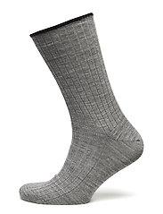 Egtved socks wool no elastic , - LIGHT GREY