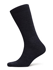 TWIN-FACE PLAIN-SOCKLET C/WOOL - BLUE