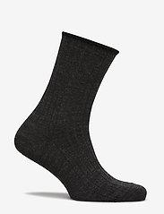 Egtved - Egtved, no elastic, rib, wool, - enkelsokken - dark grey - 1