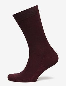 Egtved socks cotton - vanlige sokker - bordeaux