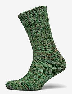 Kraftig Boot Sock bommuld - BLACK PRINT