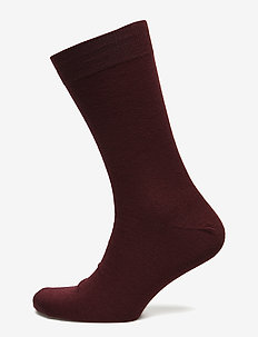Egtved socks cotton/wool twin - BORDEAUX