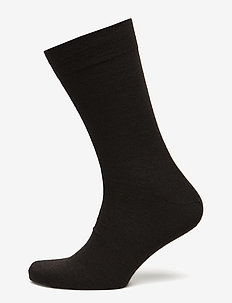 Egtved socks cotton/wool twin - DARK BROWN