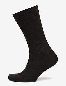 Egtved socks cotton/wool twin, - vanlige sokker - dark brown