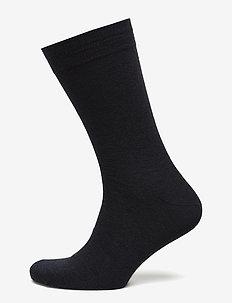 Egtved socks cotton/wool twin, - regular socks - navy