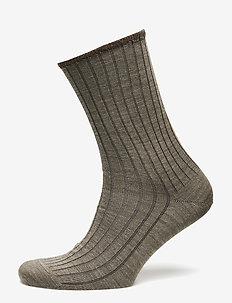 Egtved socks wool no elastic , - regular socks - beige mel.