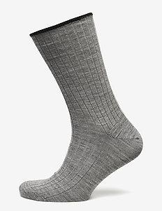 Egtved socks wool no elastic , - regular socks - light grey