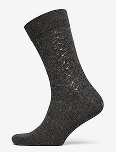 Egtved socks wool no elastic - GRå