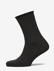 Egtved, no elastic, rib, wool, - DARK GREY