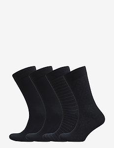 Egtved socks, 4-pak  bamboo - regular socks - navy