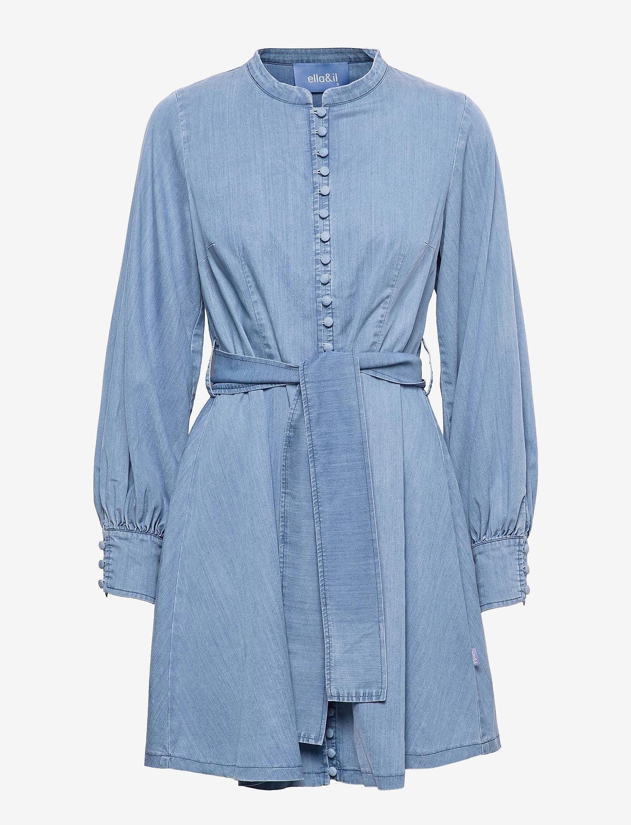 ella&il - Zena denim dress - robes de jour - blue denim - 0