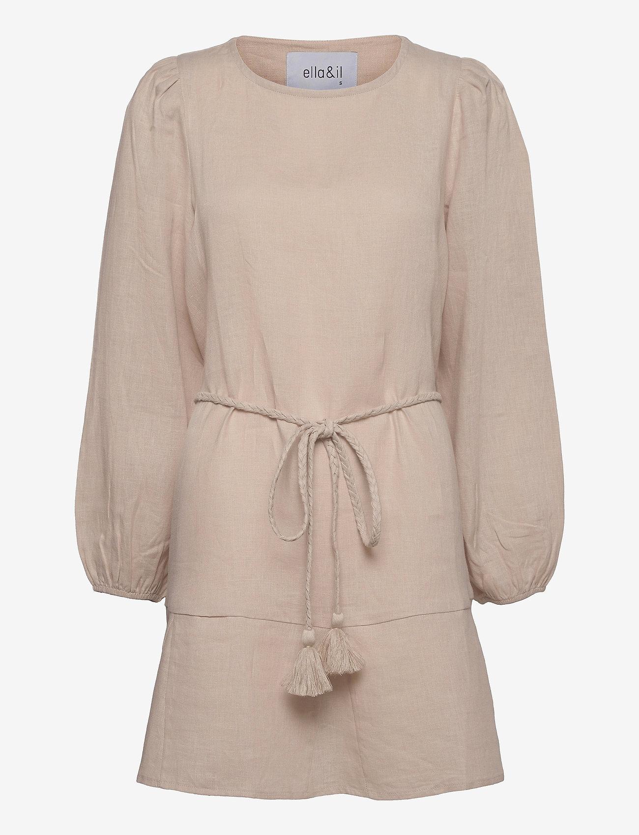 ella&il - Bella linen dress - robes d'été - beige - 0