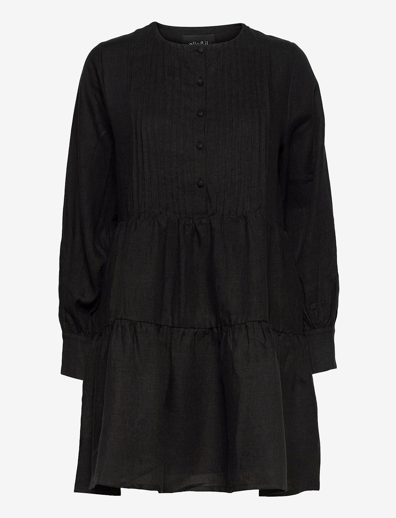 ella&il - Aria linen dress - robes de jour - black - 0