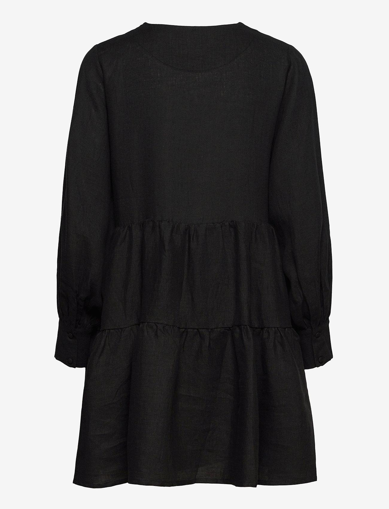 ella&il - Aria linen dress - robes de jour - black - 1