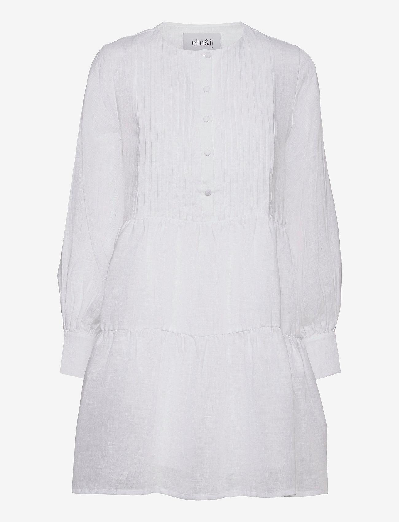 ella&il - Aria linen dress - robes de jour - white - 0